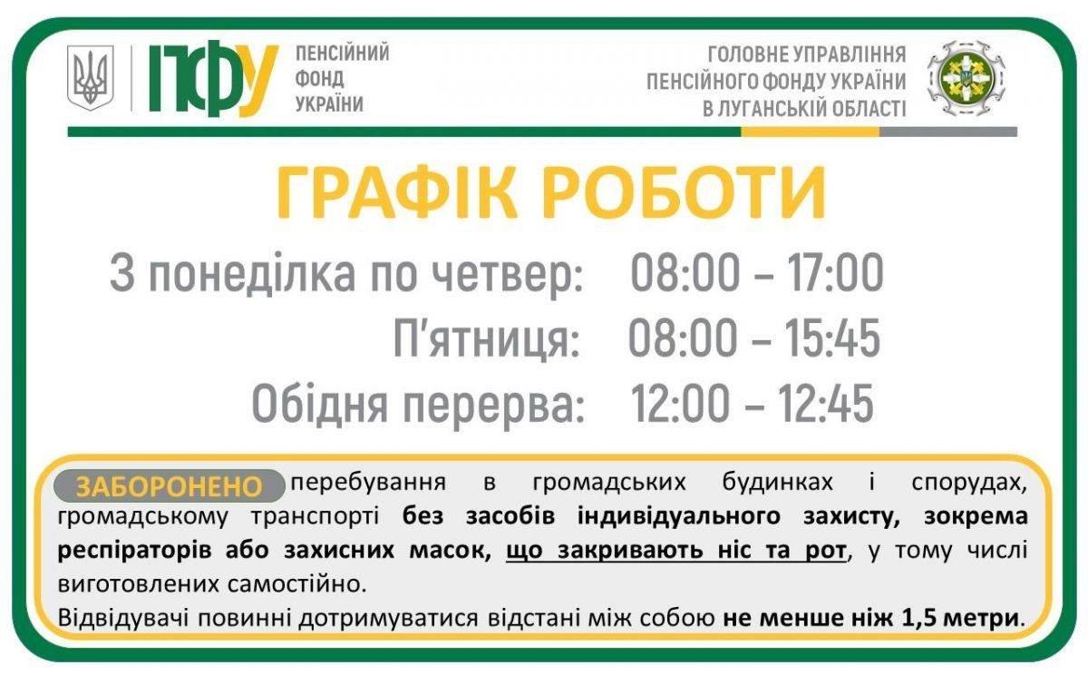 На Луганщине изменили режим работы в учреждениях пенсионного фонда, фото-1