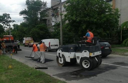 В Северодонецке стартовал текущий ремонт дорог ( фото)