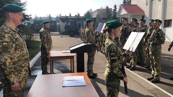 Погранотряд Лисичанска принял новобранцев
